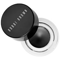 bobbi brown longwear gel liner. stands the test of time.  Stays better than most other liners, great color payoff.
