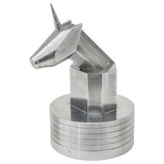 Art Deco Machined Aluminum Unicorn Box | From a unique collection of antique and modern boxes at http://www.1stdibs.com/furniture/more-furniture-collectibles/boxes/