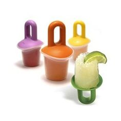 Volcanic Pop Molds  from Just for Kitchen $9.95 Not only do you get a popsicle you also get to fill the hollow center with a filling of your choice. Sounds super fun. #popsicles #popsiclemolds #popsiclemakers #icepops