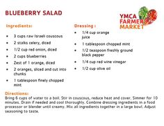 Blueberry Salad - YMCA Farmers Market 2014