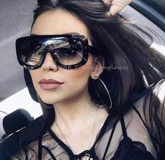 8d6c0783436 Emosnia 2017 Square Oversized Sunglasses Women Men Celebrity Brand Designer  Big Lady UV400 Vintage Sun Glasses Female Oculos
