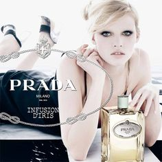 Prada Parfums has launched a new advertising campaign for Prada Infusion d'Iris which features model Lara Stone, shot by famed photographer, Steven Meisel.