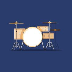 Part of a set of drum illustrations I'm working on right now #drums #drawing #illustration #design #music