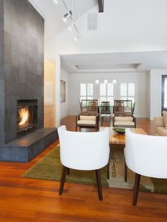 Creative and Modern Tricks: Spray Painted Fireplace log burner fireplace simple.Gas Fireplace Design fireplace surround and mantels.Contemporary Fireplace With Tv Above. Slate Fireplace, Candles In Fireplace, Fireplace Cover, Cozy Fireplace, Living Room With Fireplace, Fireplace Surrounds, Fireplace Design, Fireplace Ideas, Fireplace Fronts