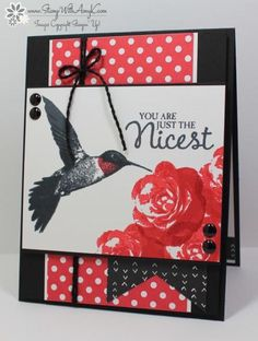 Stampin' Up! Picture Perfect in Red and Black