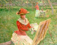 Blanche Hoschede (1864-1947) Painting, 1892 (oil on canvas), Monet, Claude