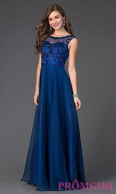 Floor Length Formal Prom Dress at PromGirl.com