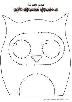 The Craft Revival: owl cushion: tutorial