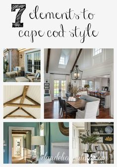 Interior decorating a cape cod style house