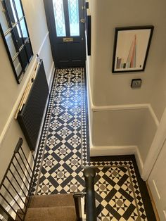 Victorian Hallway Tiles, Edwardian Hallway, Edwardian House, Floor Tiles Hallway, Tile Floor, Entrance Hall Decor, Hall Tiles, Porch Tile, Victorian House Interiors