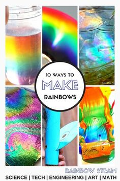 Love all these rainbow themed science projects! Fantastic accompaniment to any St. Patrick's celebration!