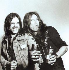 Eddie Clarke with Lemmy Kilmister, Motörhead.