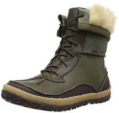 Amazon.com | Merrell Women's Tremblant Mid Polar Waterproof Snow Boot, Black, 7.5 M US | Snow Boots