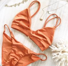 Mystia Bikini Set - Copper - SWIMWEAR