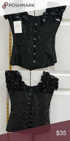 Black bodice corset new with tags Brand new with tags black corset with embroidered pattern Daisy corsets Intimates & Sleepwear Chemises & Slips