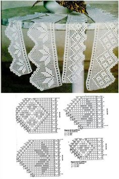 If you looking for a great border for either your crochet or knitting project, check this interesting pattern out. When you see the tutorial you will see that you will use both the knitting needle and crochet hook to work on the the wavy border. Crochet Edging Patterns, Crochet Lace Edging, Crochet Motifs, Crochet Borders, Crochet Diagram, Crochet Chart, Thread Crochet, Crochet Trim, Love Crochet
