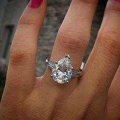Top 10 Engagement Ring designs - Pear shaped diamond engagement ring