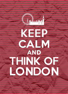 Keep Calm and Think of London Stripes 8x11 by FebruaryLane