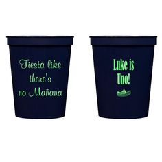 Uno / 1st Birthday Personalized Stadium Plastic Cups -   - Pink Poppy Party Shoppe - 1