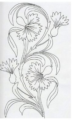 Craftziners Magazine – Volume 2 Issue 1 – # – broderie à la main Floral Embroidery Patterns, Crewel Embroidery, Embroidery Designs, Flower Line Drawings, Art Drawings, Flower Coloring Pages, Leaf Coloring, Gourd Art, Tile Art