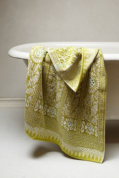 Marigold Towel #anthropologie annoyingly out of stock, perfect for downstairs loo