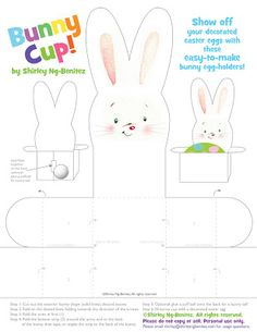 Free Easter Printables   6 different crafts! - from welovetoillustrate.com