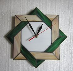 Stained Glass Wall Clock  Unique Wall Clock  Clock by ZangerGlass, $76.00