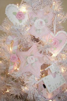 Pink Roses Christmas Faux Cookie Ornaments , etc. | Flickr - Photo Sharing!
