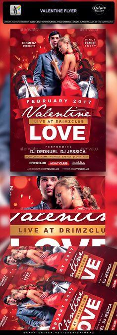 #Valentine #Flyer - Events Flyers Download here: https://graphicriver.net/item/valentine-flyer/19372777?ref=alena994