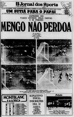 Primeira página do Jornal dos Sports no dia seguinte ao recorde de público de Flamengo x Vasco