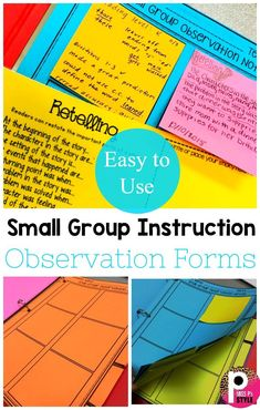 Check out these awesome easy to use small group instruction observation forms to track student progress during small groups.  Great for all subject types including reading, math, writing and special education!  These trackers come in several different formats including digital and sticky notes.  These are editable to change the name and add student's name.  #observationtracker #observationform #editable Math Writing, 4th Grade Writing, 5th Grade Reading, Teaching Writing, Writing Activities, Guided Reading, Writing Ideas, Fourth Grade, Formative Assessment