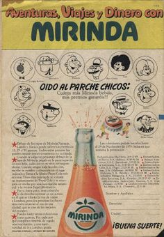 Carteles antiguos de publicidad- Mirinda años 60-70