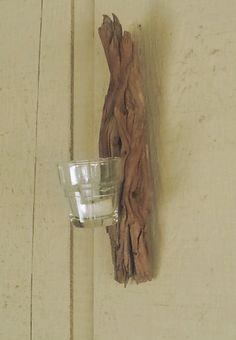 Driftwood Sconce Votive or Tealight Candle Holder