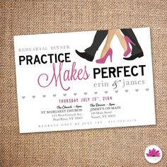 Rehearsal Dinner Invitation 5 X 7  Digital file by EventswithGrace
