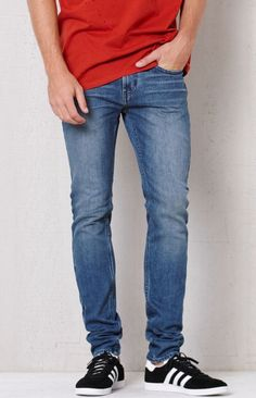 PacSun Skinniest Medium Wash Stretch Jeans