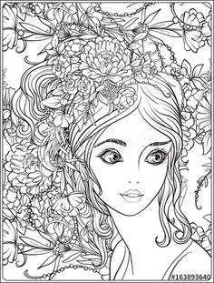 938 Best Beautiful Women Coloring Pages for Adults images ...