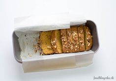 Sweet pumpkin bread with walnuts.  /with homemade pumpkin pure/