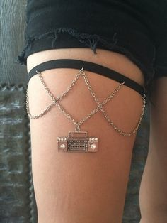 80's boombox stereo Thigh Chain by INGcouture on Etsy https://www.etsy.com/listing/227374776/80s-boombox-stereo-thigh-chain