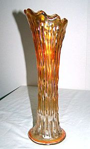 Carnival Glass - Fenton - April Showers - Marigold Swung Vase 11""