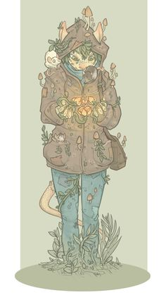 magnificenthindsight: My witchsona would have the ability to grow all sorts of plants and fungi on her body/clothes/surroundings. She'd have rats living in all her pockets (like me), and she'd have the ability to communicate with them. C: