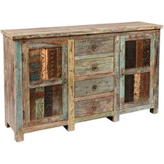 A little bit rustic, a little bit boho, this reclaimed wood sideboard looks artisan-worthy in any space.  Product: Sideboard