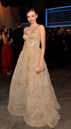Miranda Kerr in Reem Acra attends the Fifth Annual Baby2Baby Gala. #bestdressed