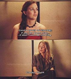 Blair & Serena stuck in the elevator. Haha Chuck