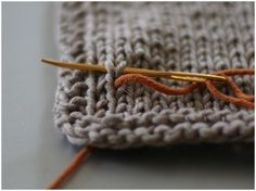 Bella Knitting - Duplicate stitch tutorial (and some other cool stuff)