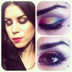"""Kat created this hot, punk look with her own """"Mi Vida Loca"""" Eyeshadow Palette. Kat is sexy in any color <3"""