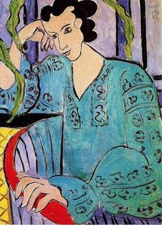 1939 Henri Matisse (French, 1869-1954) ~ The Romanian Green Bluse