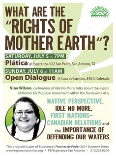 Rights of Mother Earth :: Community School Series 2014 :: www.esperanzacenter.org