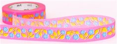 neon pink flower mt Washi Masking Tape deco tape