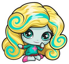 Lagoona Blue. Monster High Mini. Original Ghouls