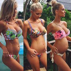 Hannah Polites.. 5 months, 5 and half months and 8 months.. #stylethebump #chicbump #bikinibump #fitbump
